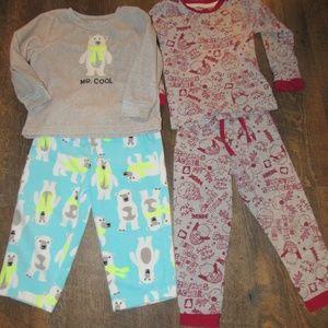Pajama sets boy size 2T